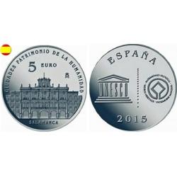 ESPAÑA 5 EUROS 2015 PLATA FNMT UNESCO SALAMANCA SET