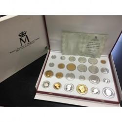 . 24 medallas ESPAÑA FNMT PLATA HISTORIA DE LA PESETA ESTUCHE
