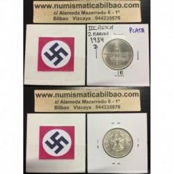 ALEMANIA 2 MARCOS 1934 D IGLESIA POSTDAM FECHA III REICH PLATA 1
