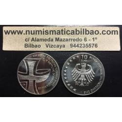 . ALEMANIA 10 EUROS 2015 Ceca J CRUZ ROJA Nickel SC