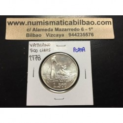 VATICANO 500 LIRAS 1978 Año XVI PAPA PABLO VI JESUCRISTO y BARCA KM.139 MONEDA DE PLATA SC 500 Lire silver coin