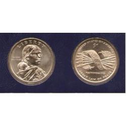 ESTADOS UNIDOS 1 DOLAR 2010 P INDIA SACAGAWEA y CINTURON DE FLECHAS HAUDENOSAUNEE MONEDA DE LATON SC USA $1 Dollar coin