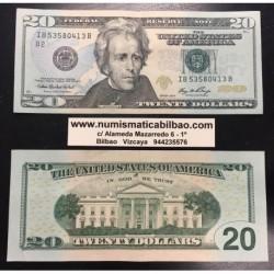 @NUEVO DISEÑO@ ESTADOS UNIDOS 20 DOLARES 2006 JACKSON BILLETE EBC @COLORES@ USA $20 Dollars