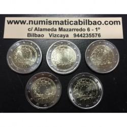 ALEMANIA 2 EUROS 2015 BANDERA EUROPEA A+D+F+G+J SC Monedas