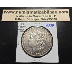 ESTADOS UNIDOS 1 DOLAR 1900 MORGAN EBC KM.110 MONEDA DE PLATA Silver $1 Dollar Coin
