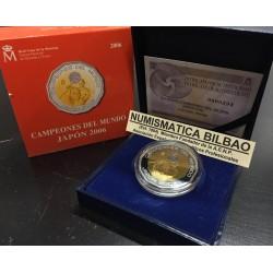 ESPAÑA 300 EUROS 2006 CAMPEONES DEL MUNDO DE BALONCESTO MUNDIAL DE JAPON MONEDA DE ORO y PLATA PROOF ESTUCHE FNMT