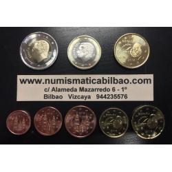 ESPAÑA MONEDAS EURO 2016 SIN CIRCULAR 1+2+5+10+20+50 Centimos 1 EURO + 2 EUROS REY FELIPE VI