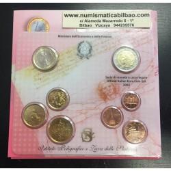 ITALIA CARTERA OFICIAL EUROS 2005 SC 1+2+5+10+20+50 CENTIMOS 1 EURO + 2 EUROS BU SET KMS 8 MONEDAS