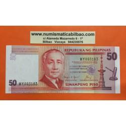 FILIPINAS 50 PISO 1986 / 1992 SERGIO OSMENA @RESELLO (1949@ Pick 171B BILLETE SIN CIRCULAR PESOS PHILIPPINES UNC