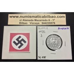 ALEMANIA 50 REICHSPFENNIG 1935 J AGUILA III REICH MONEDA DE ALUMINIO EBC-
