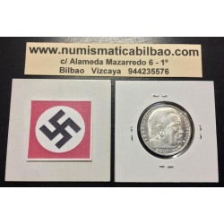 ALEMANIA 2 MARCOS 1939 D @PROOF@ AGUILA ESVASTICA NAZI III REICH MONEDA DE PLATA REICHSMARK