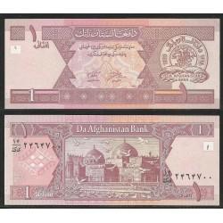 AFGANISTAN 1 AFGHANI 2002 AVES SOBRE MEZQUITA Pick 64A BILLETE SC Afghanistan UNC BANKNOTE