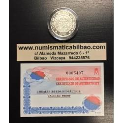 ESPAÑA 500 PESETAS 2001 CASA DE LA MONEDA DE SEGOVIA RUEDA HIDRAULICA PLATA PROOF @OFERTA SIN ESTUCHE DE LA FNMT@