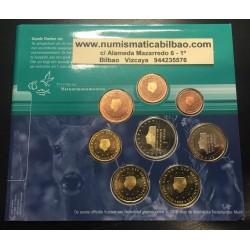 @OFERTA@ HOLANDA CARTERA OFICIAL EUROS 2000 BU SET 1+2+5+10+20+50 CENTIMOS 1 EURO + 2 EUROS 2000 SC REINA BEATRIZ