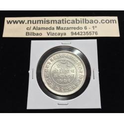 INDIA BRITANICA 5 KORI 1942 KUTCH STATE ERA KHENGARJI III KM.Y82 MONEDA DE PLATA SC British silver coin