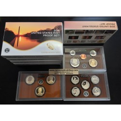 2016 UNITED STATES MINT PROOF SET @NICKEL@ 13 COINS ESTADOS UNIDOS 1+5+10+10+25 CENTAVOS + 1/2 DOLAR KENNEDY + 1 DOLAR 2016