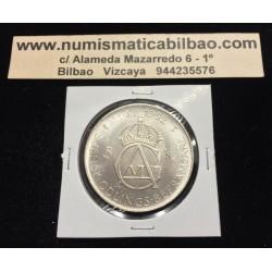 SUECIA 5 KRONOR 1952 REY GUSTAV VI 70 CUMPLEAÑOS KM.828 MONEDA DE PLATA SC Sweden silver kroner