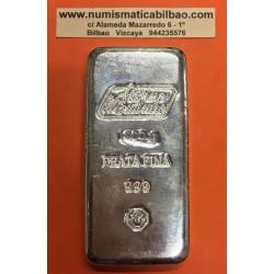 . LINGOTE 100 gramos PLATA PURA INVERSOR CERTIFICADO Silver