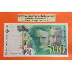 FRANCIA 500 FRANCOS 1994 PIERRE CURIE & MARIE CURIE Serie G Pick 160A EBC+ @DOBLECES@ SC France Francs