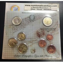 ITALIA CARTERA OFICIAL EUROS 2003 SC 1+2+5+10+20+50 CENTIMOS 1 EURO + 2 EUROS BU SET KMS 8 MONEDAS @RARA@