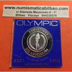 @OFERTA@ ESTADOS UNIDOS 1984 OLYMPIC SOUVENIR MEDAL Modulo 1 Dolar NICKEL PROOF USA
