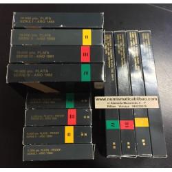 . ESPAÑA V . ESPAÑA V CENTENARIO 4 Series PLATA 1989 1990 1991 1