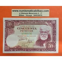 ESPAÑA 50 PESETAS 1951 SANTIAGO RUSIÑOL Serie A 7985172 Pick 141 BILLETE CASI EN EXCELENTE CONSERVACION Spain banknote