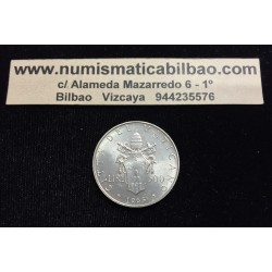 VATICANO 500 LIRAS 1965 PAPA PABLO VI y ESCUDO PAPAL KM.83.2 MONEDA DE PLATA SC Silver Lire