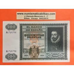 ESPAÑA 500 PESETAS 1940 DON JUAN DE AUSTRIA y BARCO Serie A 1723736 Pick 119 @BILLETE RARO@ Spain