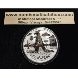 AUSTRALIA 1 DOLAR 2008 CANGURO MONEDA DE PLATA SC SILVER Kangaroo Känguru $1 Dollar OZ ONZA OUNCE