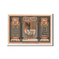 @NOTGELD@ ALEMANIA 75 PFENNIG 1922 STADT OLDENBURG BARCOS EN PUERTO MEHL 149.1A BILLETE SC Germany