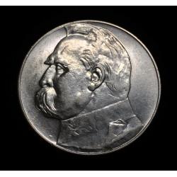 POLONIA 10 ZLOTY 1936 W JOZEF PILSUDSKI y AGUILA KM.Y29 MONEDA DE PLATA EBC/SC Poland Silver Zlotych