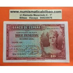 @OFERTA@ ESPAÑA 10 PESETAS 1935 DAMA Serie B Pick 86 BILLETE EBC+ II REPUBLICA ESPAÑOLA