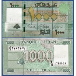 LIBANO 1000 LIBRAS 2011 SIMBOLOS MATEMATICOS Pick 90 BILLETE SC LEBANON UNC BANKNOTE Livres Pounds