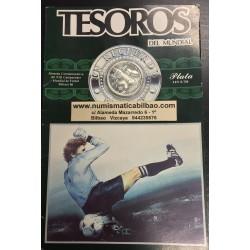 .MEXICO 50 PESOS 1985 MUNDIAL DE FUTBOL PLATA SILVER