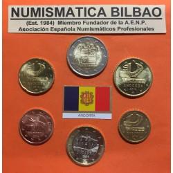 @2017 OFERTA@ ANDORRA MONEDAS EUROS 2014 SC 5+10+20+50 Centimos 1€+2€ Serie de 5 monedas (NO INCLUIDAS 1+2 Centimos)