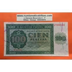 ESPAÑA 100 PESETAS 1936 CATEDRAL DE BURGOS Serie J 789569 Pick 101 BILLETE CASI EBC+ @DOBLEZ CENTRAL@ Spain banknote