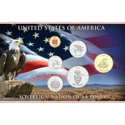 @NOVEDAD@ ESTADOS UNIDOS 1+5+10+25+50 Centavos + 1 DOLAR 2013 TRIBU INDIA SOVEREIGN NATION OF LA POSTA