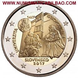 ESLOVAQUIA 2 EUROS 2017 UNIVERSIDAD ISTROPOLITANA 550 ANIVERSARIO SC MONEDA CONMEMORATIVA Slovakia Slowakie