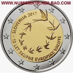 ESLOVENIA 2 EUROS 2017 X ANIVERSARIO DEL EURO EN ESLOVENIA SC MONEDA CONMEMORATIVA Slovenia Slovenien