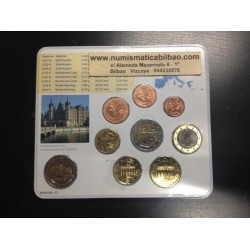 ALEMANIA 5 CARTERAS EURO 2007 Letras A+D+F+G+J BU SET SC 1+2+5+10+20+50 Centimos 1+2 Euros con moneda 2€ 2007 CONMEMORATIVA
