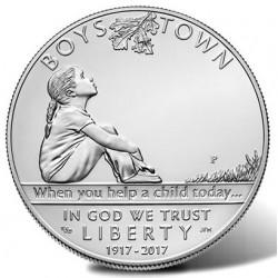 @NOVEDAD@ ESTADOS UNIDOS 1 DOLAR 2017 P BOYS TOWN CENTENNIAL CASA DE ACOGIDA MONEDA DE PLATA PROOF ESTUCHE Silver Dollar US MINT