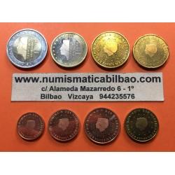 HOLANDA MONEDAS EURO @FECHA MEZCLADA@ SC : 1+2+5+10+20+50 Centimos + 1 EURO + 2 EUROS