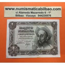ESPAÑA 1 PESETA 1951 DON QUIJOTE Sin Serie 8417188 Pick 139 BILLETE EBC Spain banknote