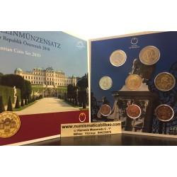 AUSTRIA CARTERA OFICIAL EUROS 2010 SC 1+2+5+10+20+50 Centimos + 1 EURO + 2 EUROS 2010 UNC BU SET KMS Österreich