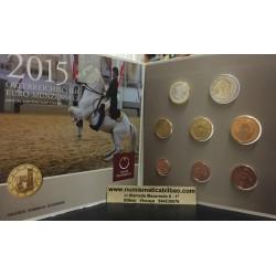 AUSTRIA CARTERA OFICIAL EUROS 2015 SC 1+2+5+10+20+50 Centimos + 1 EURO + 2 EUROS 2015 UNC BU SET KMS Österreich