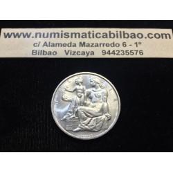 SUIZA 5 FRANCOS 1948 B CONSTITUCION FEDERAL MUJER CON NIÑO KM.48 MONEDA DE PLATA SC Switzerland francs silver