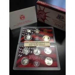 2002 UNITED STATES MINT SILVER PROOF SET 10 COINS ESTADOS UNIDOS 1+5+10+25 CENTAVOS + 1/2 DOLAR + 1 DOLAR PLATA