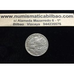 ESPAÑA 25 CENTIMOS 1925 PCS BARCO KM.740 MONEDA DE NICKEL @BONITA@ REINADO DE ALFONSO XIII