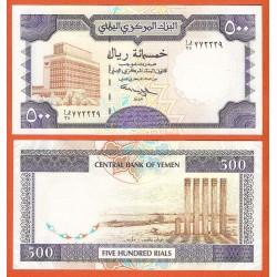 YEMEN 500 RIALS 1997 RUINAS ANTIGUAS y RASCACIELOS Pick 30 BILLETE SC ARAB REPUBLIC UNC BANKNOTE